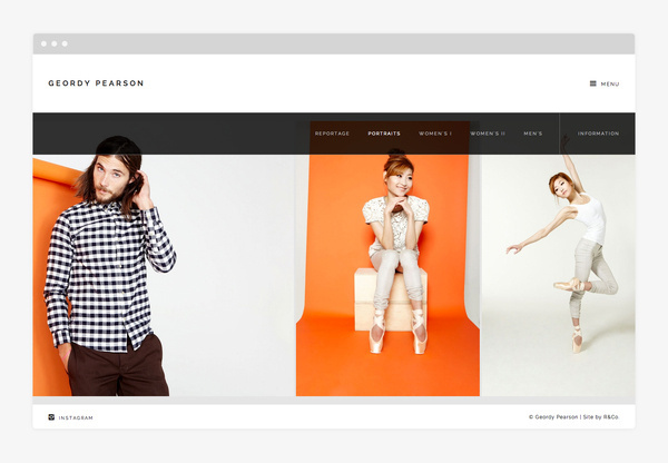 Geordy Pearson by R&Co. #responsive #design #clean #website #grid #minimal #web