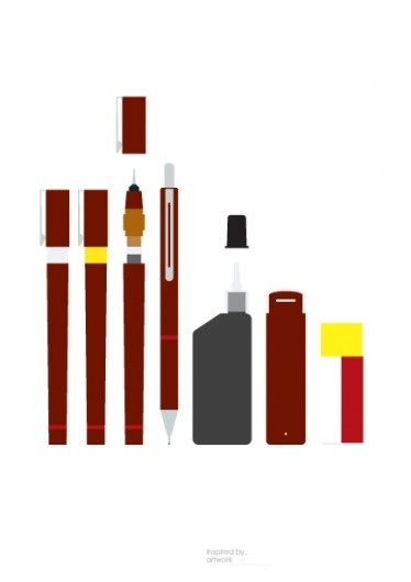 Print-Process / Product / Artwork #rotring #process #pens #print #illustration