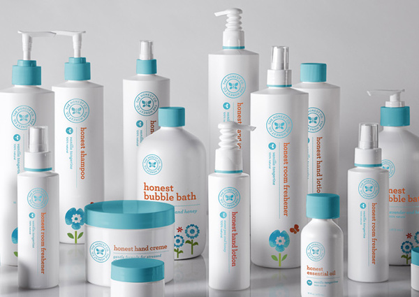 Bathroom ProductsThe Honest company brand was eventually applied to bath and baby products as well as kitchen and laundry products. #packaging #design #mint