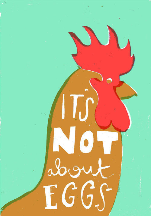 I made a card guys!https://www.etsy.com/listing/126333493/its not about eggs card #print #screenprint #screen #illustration #chicken #drawing #farley