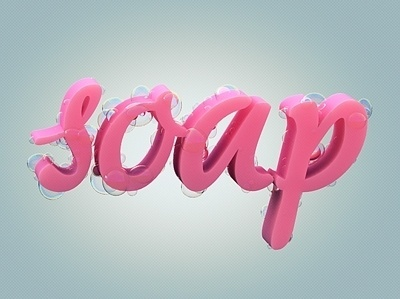 Dribbble - Soap by Den Brooks #illustration #typography