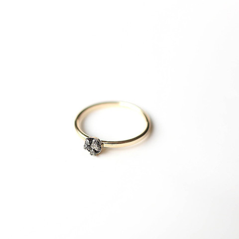 Nanhā Pyrite Ring || 14K Gold #cluster #pyrite #pulse #design #14k #jewelry #gold #parallel #ring