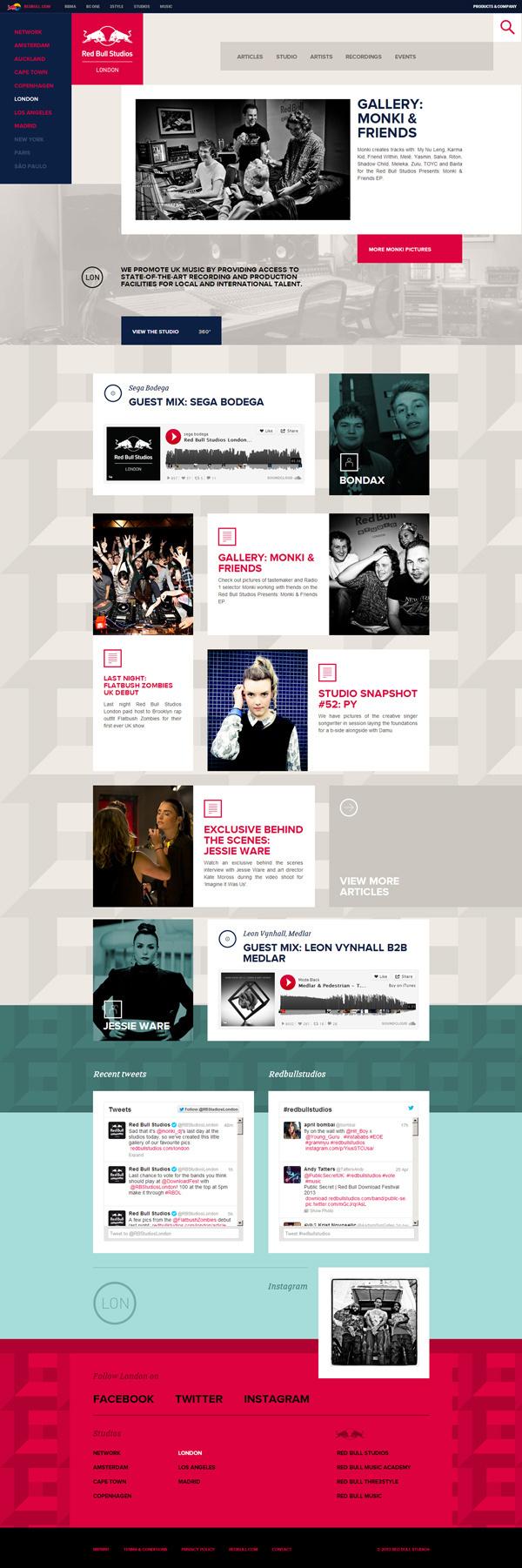 Red Bull Studios bu Muomkai #web