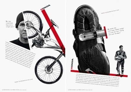 posters-honda-bike #design #graphic #spread #bauhaus #magazine