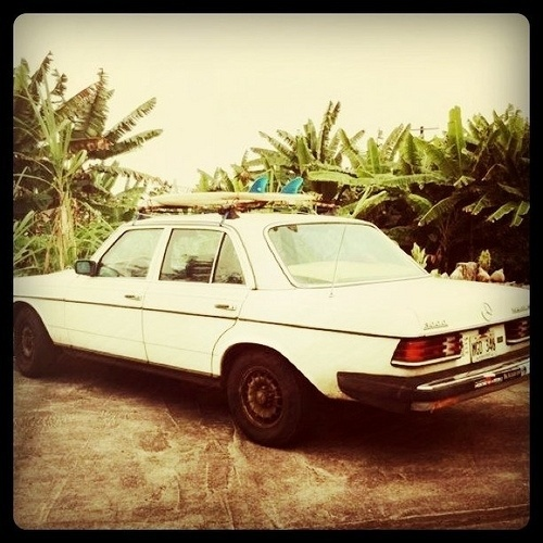 All sizes   Classic Mercedes, island style.   Flickr - Photo Sharing! #mercedes #surf
