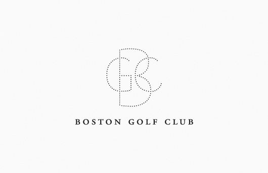 Butter #golf #boston #ball #logo #dots #type #club