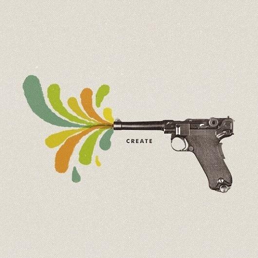Create - Designers.MX #create #gun #color #ogden #illustration #john