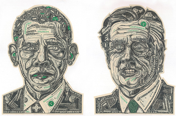 The Art of the Dollar: Meticulous Currency Collages by Mark Wagner #dollar #bills #art