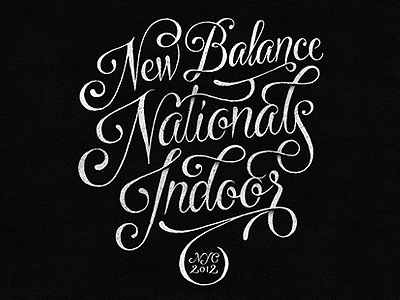 Dribbble - New Balance Nationals Indoor by Simon Ã…lander #calligraphy #type #typography