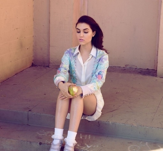 Filth Flarn Filth #babe #girl #pink #sasha #photography #lipstick #grey