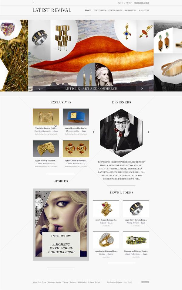 Latest Revival | Hugo & Marie #website #design #web #ui