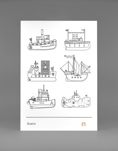 Boats Print #boats #print #design #graphic #illustration
