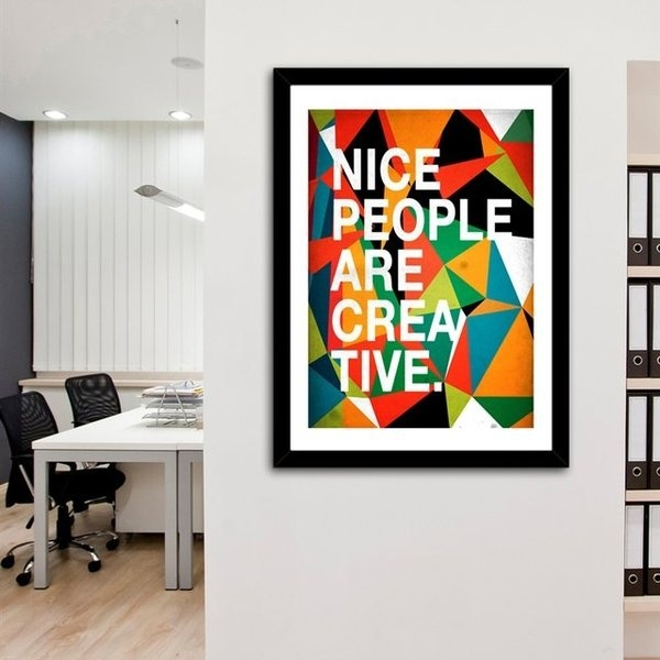 Nice People Are Creative Print by Danny Ivan #print #art