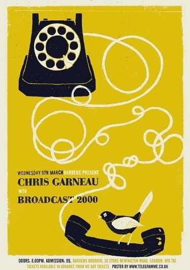 CHRIS GARNEAU : Telegramme Studio #screen #printing #phone #poster
