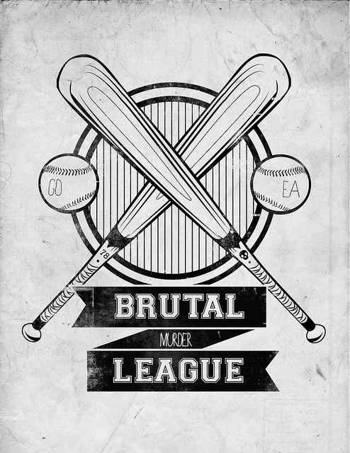 Brutal League #brutal #icon #logo #bat #hardcore #baseball #type