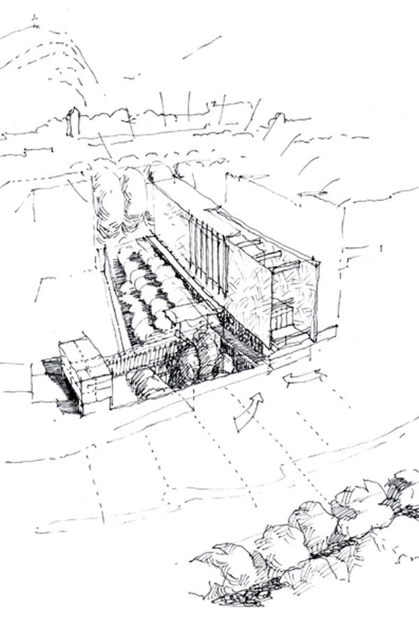 04 azero_landini_Bolzano 650 #view #design #drawing #contemporary #architecture #art #pen #pencil #museun