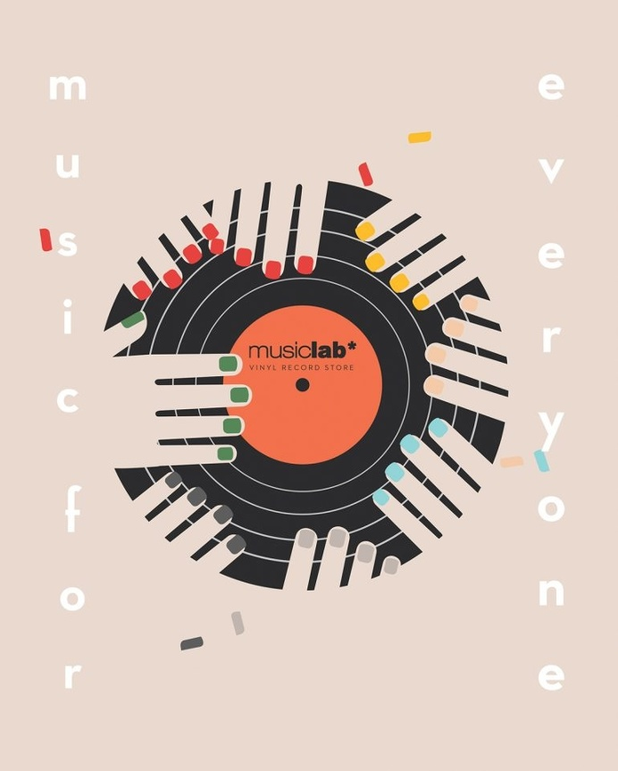 """Advertising Illustrations for the record store """"Music Lab"""""""