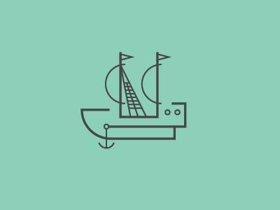 Dribbble - Ship by R A D I O #vector #line #illustration #ship #art