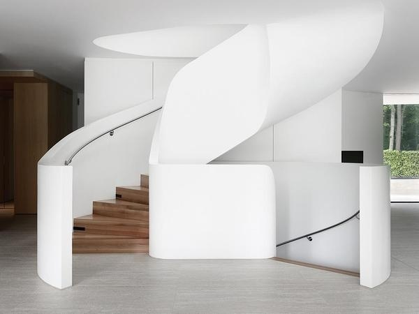 Modern Architecture Showcase #white #modern #design #clean #simple #wood #architecture #craftsmanship #stairs #formative