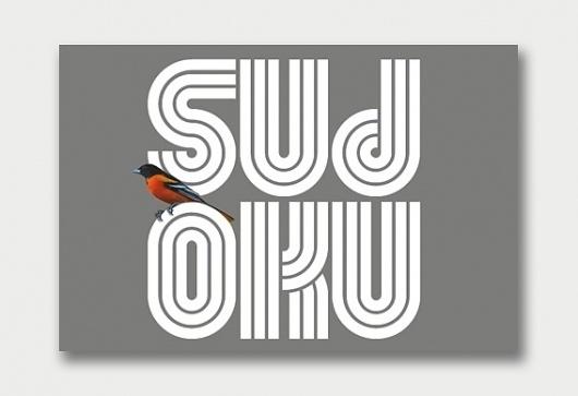 Sudoku – Type Specimens. / Aqua-Velvet #sudoku #typeface #typography