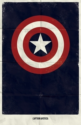 Marvel Minimalist Posters on the Behance Network #america #captain