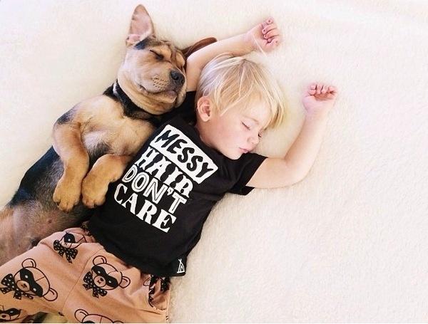 A Naptime Story with Dog and Baby – Fubiz™ #photography #baby #dog