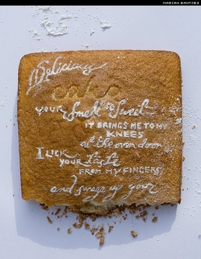 Sunday Type: birthday type | I love typography, the typography and fonts blog #bantjes #cake #sugar #marian #handmade #typography