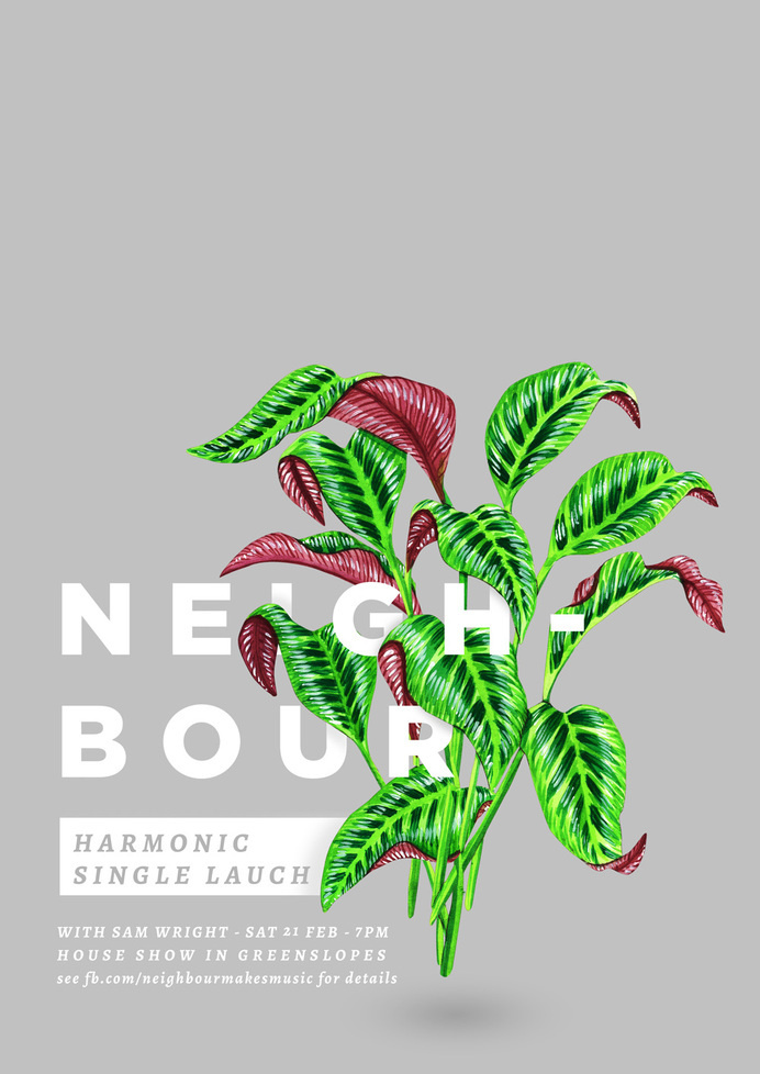 Harmonic Poster - by Sophia Mary Mac #band #draw #typography #design #plant #illustration #paint #painting #poster #layout #drawing #watercolour