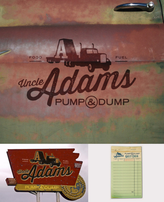 personal, logo, truck stop, A, Adams, restaurant, door, rust