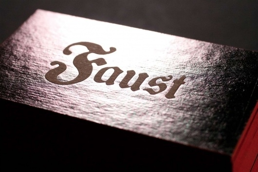 Faust | We're Graphic Designers. We're Very Good. Everybody Says So. #business #stamped #cards #foil #faust
