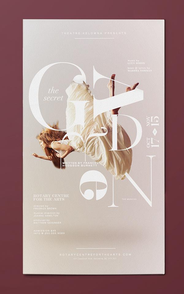 Secret Garden on Behance #dance #poster #typography