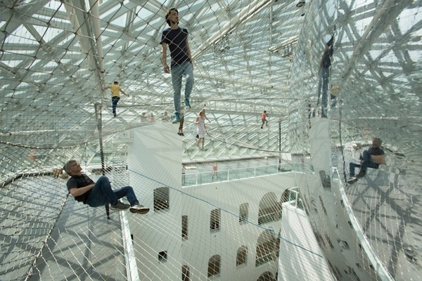 CJWHO ™ (Tomás Saraceno | in orbit Suspended more than 25...) #installation #design #interiors #photography #architecture #art