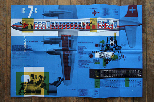 Penrose Annual no.52 from 1958, Swissair leaflet (via Andy Field (Hubmedia)) #plan #plane #manual