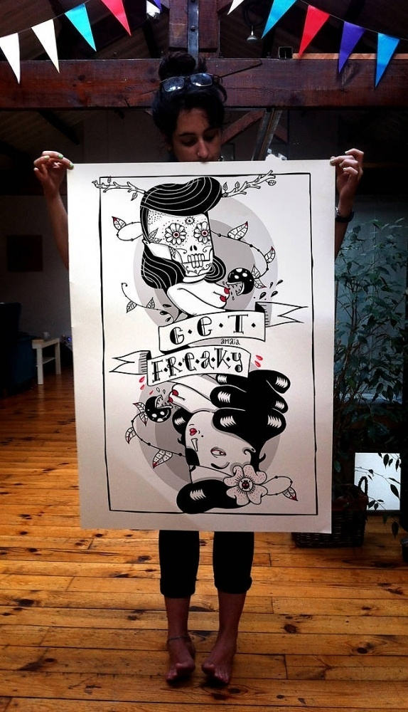 Amaia Arrazola Illustration #dia #design #de #poker #illustration #poster #muertos