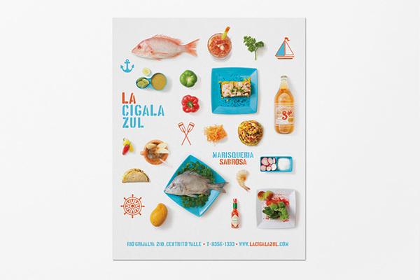 La Cigala Zul - Menu #bright #illustration #menu #photos