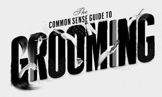 Esquire Magazine – Grooming - Luke Lucas – Typographer | Graphic Designer | Art Director #white #esquire #black #illustration #custom #type