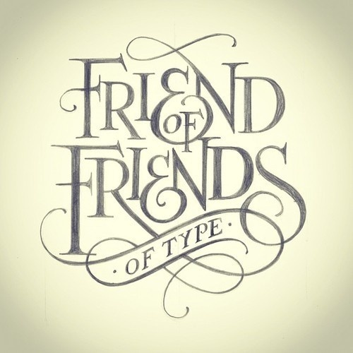 matthewtapia:Friends of Friends of type #type #drawn #hand #logo