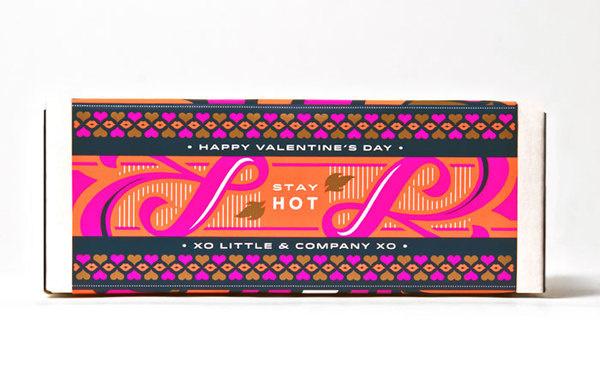 Little Hot Sauce #sauce #packaging #pink #orange #box #hot