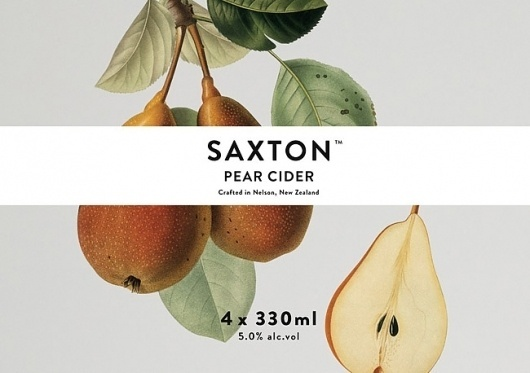 Saxton Cider   Packaging of the World: Creative Package Design Archive and Gallery #illustraton #typography