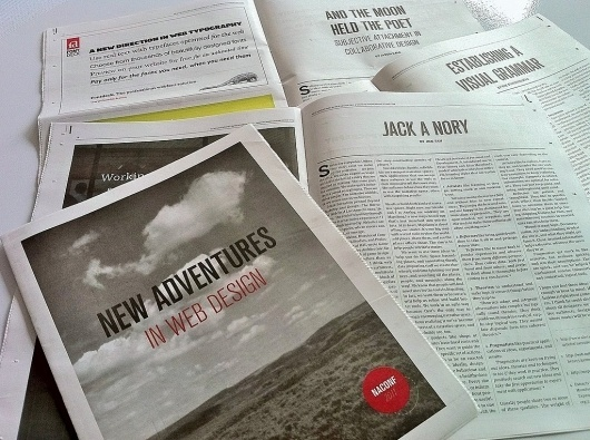 All sizes | New Adventures Paper | Flickr - Photo Sharing! #print #design #naconf #newspaper #conference #web #typography