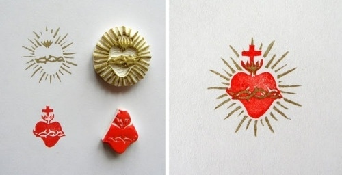 I S A - by Lilimandrill #heart #ink #rubber #stamps #sacred #lilimandrill