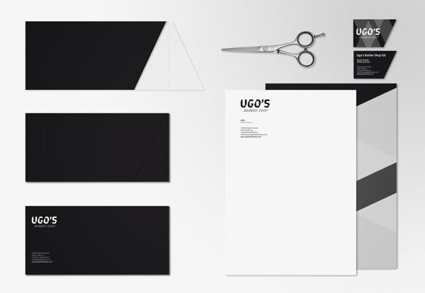 UGO's Barber Shop / identity #cut #business #card #barber #shop #scissors #black #identity #stationery #logo