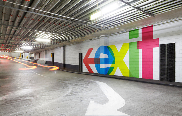QV Carpark #carpark #avant #color #bold #wayfinding #winning #award #garde #colour