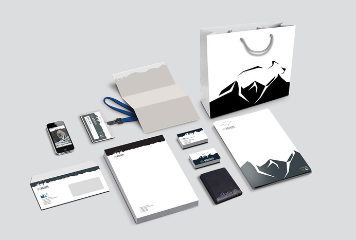 Stationery and logo design #mark #logo #stationery