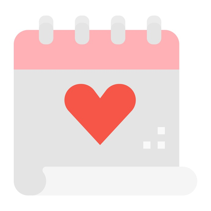 See more icon inspiration related to calendar, heart, love, time and date, love and romance, valentines day, february, romantic, schedule and date on Flaticon.