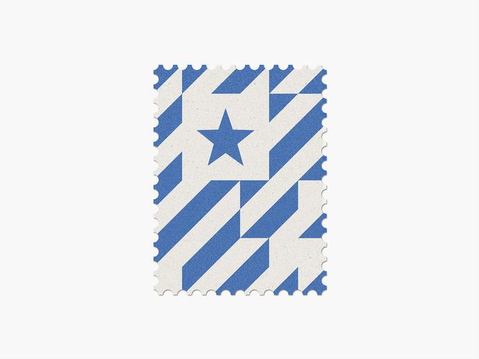 Honduras #stamp #graphic #maan #geometric #illustration #minimal #2014 #worldcup #brazil