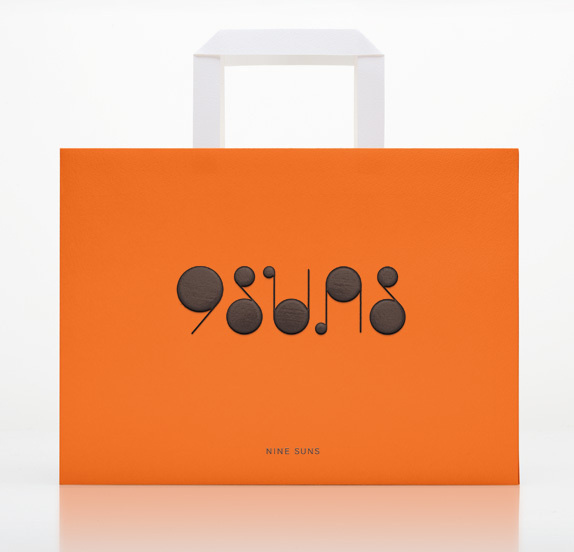 Nine Suns Logo and Packaging #packaging #print #identity