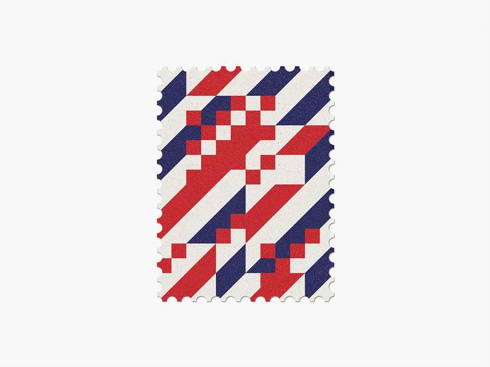 Croatia #stamp #graphic #maan #geometric #illustration #minimal #2014 #worldcup #brazil