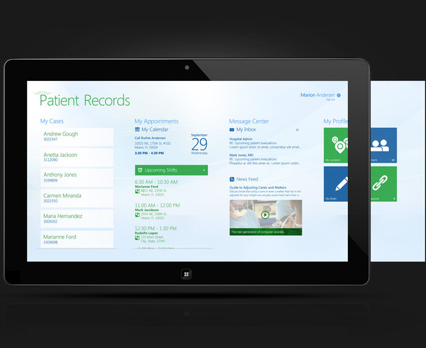 Windows 8 Patient Records App on Behance #windows8