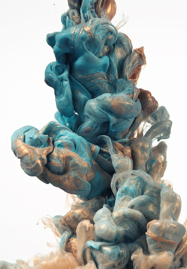 Glittering Metallic Ink Clouds Photographed by Albert Seveso #clouds #ink